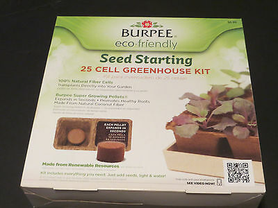 7 Burpee Deluxe ECO Friendly 25 Cell Seed Starting Greenhouse Kit biodegradeable