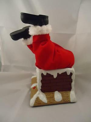 Vtg Animated Talking Santa Claus Stuck in Chimney Funny Legs Wiggle Christmas
