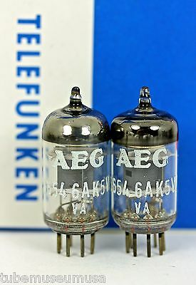 New Telefunken 5654 6Ak5W 6Ak5 Ef95 Nos Matched Pair Diamond Platinum Plus Tubes