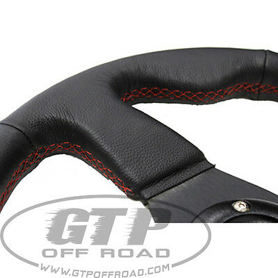 Leather steering wheel with Red Stitching + hub + quick release xp1000 rzr xp900