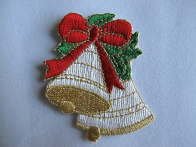 #2609 Lot 2Pcs Christmas Sleigh w//Gift Box Embroidery Iron On Applique Patch