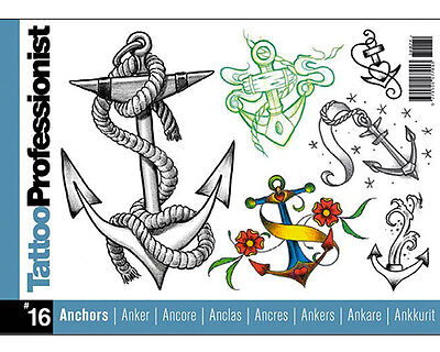 Tattoo Professionist ANCHORS Flash Book 16 80-pages Sketch Design Art Supply