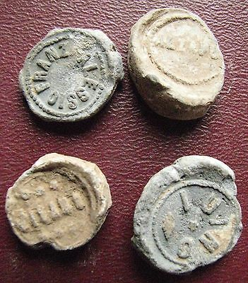 Authentic Ancient Artifact > 4 Lead Seals - 17th to 19th Century 12919