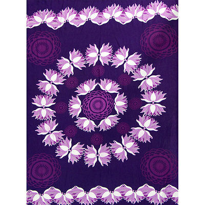 Purple Lotus Rayon Sarong or Altar Cloth!