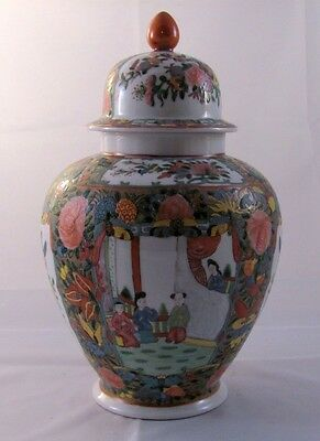 Japanese Cantonese Rose Famille Covered Ginger Jar Hand Painted In Hong Kong