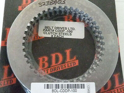 BDL Clutch Steels set;Chain Dve+CC-120 set of 8 to suit Harley