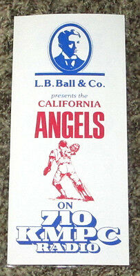 "1979 Large 11"" x 8 1/2"" California Angels Ticket Brochure and Schedule"