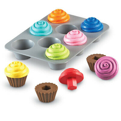 Learning Resources Smart Snacks Shape Sorting Cupcakes Educational Toy NEW