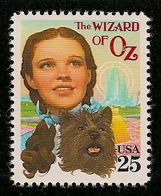 The Wizard of Oz Judy Garland Dorothy & Toto 76th Anniversary Movie Film Stamp!