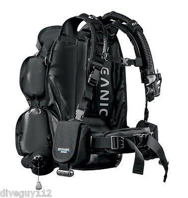 Oceanic JetPack Complete Scuba Diving Travel System Convertible BCD Dry Backpack