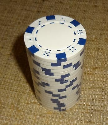 20 New Blue Clay Dice Poker Chips