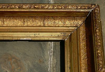 """ANTIQUE 19th CENTURY ORNATE GILT WOOD GESSO FRAME FITS 9,5"""" x 11,5"""" PICTURE"""