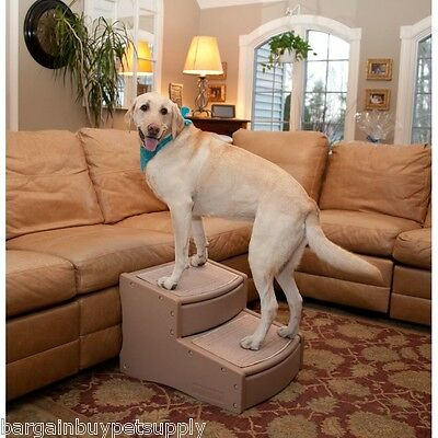 Pet Gear Easy Steps II Extra Wide Large Dog 2 Step Stair Tan up to 200 lbs