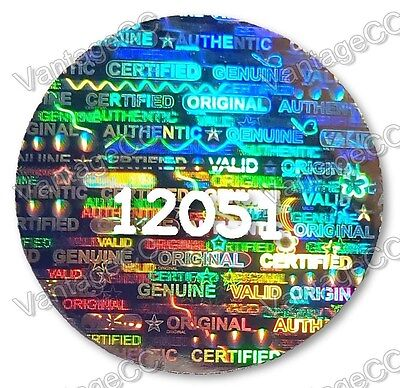 LARGE Security Hologram Stickers Labels NUMBERED, 24mm Round Warranty Valid VOID