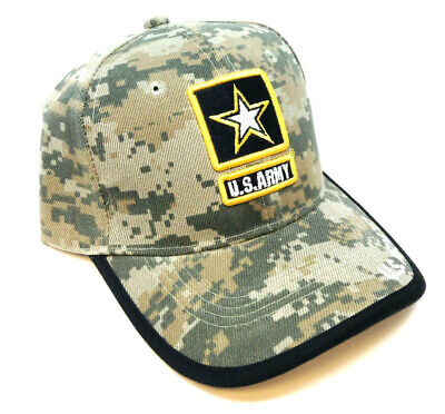 Us Army Strong Licensed Seal Military Logo Star Hat Cap Digital Camo Camouflage