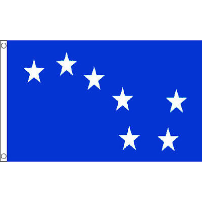 Starry Plough Royal Blue Flag 5Ft X 3Ft Ireland Irish Banner With 2 Metal Eyelet