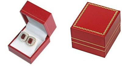 24 Classic Red Leatherette Earring Jewelry Packaging Display Gift Boxes