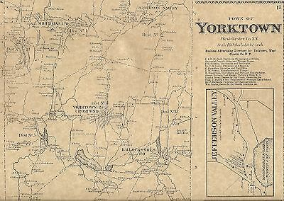 Yorktown Shrub Oak Amawalk Kitchawan NY 1867 Map with Homeowners Names Shown