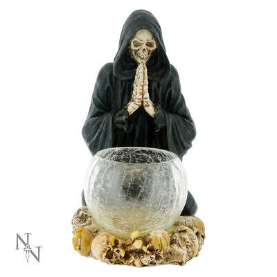 Nemesis Now Reapers Prayer Glass Candle Holder Skeleton Gothic Ornament