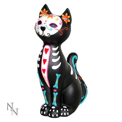 Nemesis Now Sugar Puss Cat Day Of The Dead Decoration Ornament