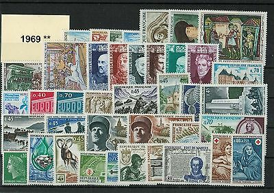 France Annee Complete 1969 ** Neuf