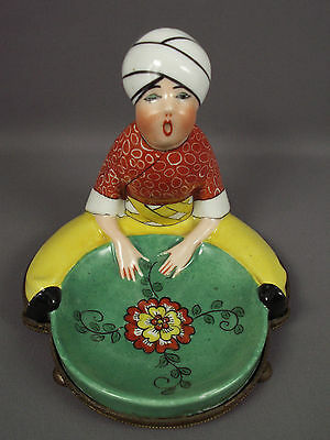 Limoges French Art Deco Porcelain France Figurine Tray Fabulous Turban