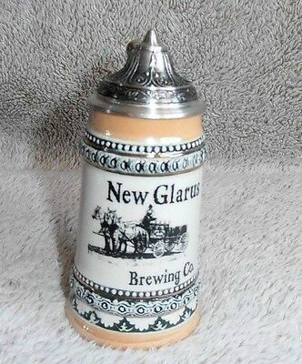 New Glarus Brewing Co. Miniature Stein with Lid , Gerz Germany