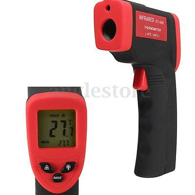 DT-500 IR Infrared Digital Laser Temperature Thermometer Messgerät -50~500℃ Rot