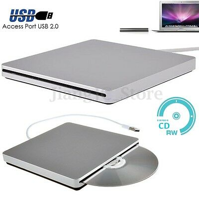 External Slot-in USB Load CD RW DVD Player Drive for Apple MAC Netbook Laptop