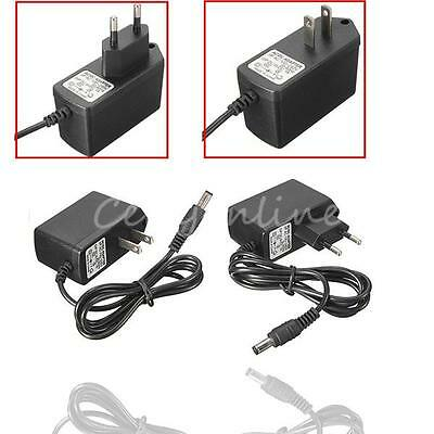 5V 6V 7.5V 9V 1A 2A AC/DC Switching Power Supply Adapter Charger Connector Plug