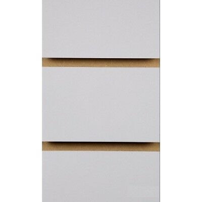 Grey Slatwall Panels with free inserts 2400mm x 1200mm - Retail Slatboards 8 X 4