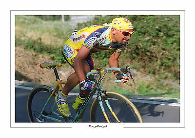 Marco Pantani Tour De France  A4 Photo Italy Cycling 2