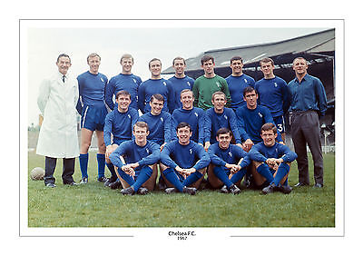 Chelsea Fc 1967 Squad  A4 Print Photo Chelsea Fc Gift For Him