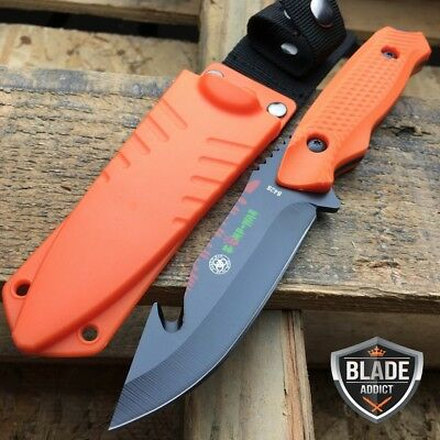 MILITARY TACTICAL GUT HOOK SKINNER HUNTING KNIFE Scuba Rescue Boot Bowie EDC