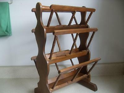 "Removable shelf HELLERWARE WOOD MAGAZINE RACK 11""x22"" vintage Republic of China"