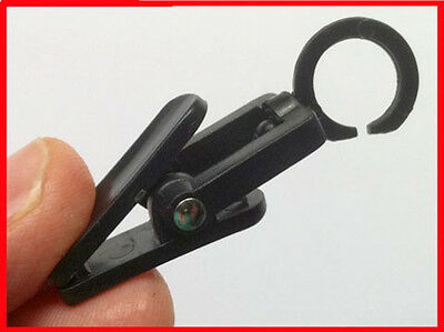 MICRO CLEVER CLIPS Organizing helper, powerful grip, swivel  COLOR: BLACK bag 10
