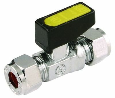 GAS LPG STRAIGHT MINI LEVER BALL VALVE APPROVED COMPRESSION SIZE: 8 10 12 15 mm