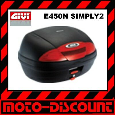 Top-Case Givi E450 N 45L Simply II 2 *UPE: 150,00 Farbe: sw/rot Topcase Koffer