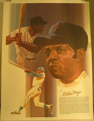 COCA-COLA WILLIE MAYS  Hall of Fame Poster #2 of 4