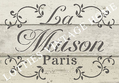❤️ STENCIL FRENCH A5 LA MAISON For Furniture Fabric Arts Vintage Shabby Chic
