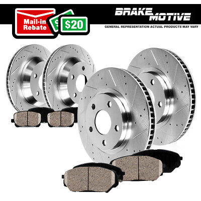 Front+Rear Brake Rotors And Ceramic Pads 2006 2007 2008 2009-2017 Dodge Ram 1500