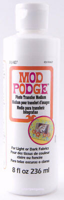 Mod Podge Photo Transfer Medium For Use With Photocopies Decoupage by Plaid