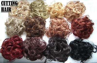 Elastic Scrunchie Hair Curly Bun Hair Piece Hair Extension Over 40 COLOURS