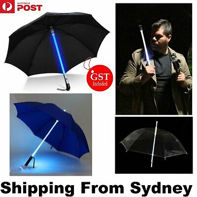 LED Umbrella Flashing Light Folding Rain Night Party Disco Dancing Decoration