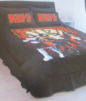 Kiss On Line Doona Quilt Cover  Double Bed Band Music Image