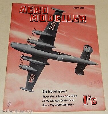 AERO MODELLER July 1958 Plans VICKERS Viscount 701- TWIDDLER AVRO Shackleton MR3
