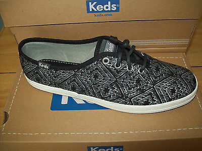 f5500be6bd2 KEDS WOMEN S CHAMPION Tribal Metallic Sneaker  WF52475 Black Silver ...