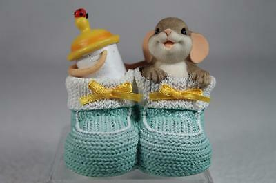 Charming Tails 'You've Got The Cutest Little Baby Face' Booties - #4035613 NIB