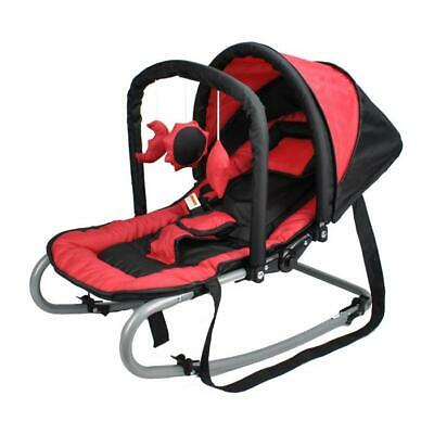 Grace Baby Harmony New Born Baby Rocker Seat with Canopy - Red