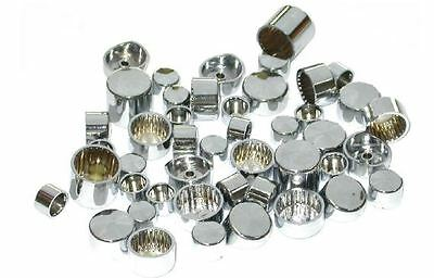 Bolt/nut Cover; Chrome Deep 9/16 (Wrench Size) Hex 10/pk